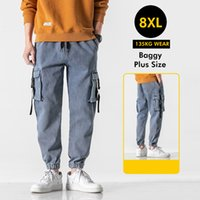 Cargo Hip Hop Jeans Pantalons Hommes Mode Casual Harem Joggers Pantalons Men Streetwear Plus Taille Large Jambes Pantalons Jeans Hommes 2021 Nouveau