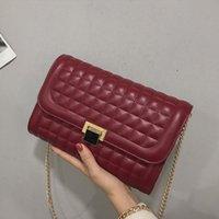 Cross Body Luxury Handbags Women Bags Designer Elegant Leather Fashion Chains Shoulder Simple Plaid Crossbody