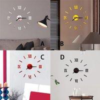 3d Acrylic Mirror Wall Clock Diy Quartz Watch Still Life Clocks Modern Home Decoration Living Room Stickers 2021