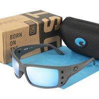 빈티지 580P 선글라스 남자 스포츠 낚시 운전 선글라스 허가 브랜드 디자이너 사각형 안경 남성 코스타 편광 고글