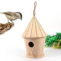 Питомники ручки деревянные или натуральные травы птичьего гнезда подвесной дом клетки отдыхают настенный открытый ящик для яйца контейнер