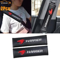 Safety Belts & Accessories VEHICAR Seat Belt Cover 2PCS Car Carbon Fibe For HARRIER Logo Knitting Vehicle Decorate