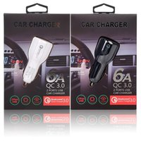 QC 3.0 Quick charger Dual usb ports 6A Power adapter fast adaptive car chargers for Iphone x xr 11 12 13 samsung S20 note 10