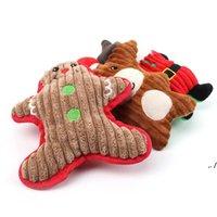 Weihnachten Plüsch Interactive Hunde Squeaky Toys Welpengeschenke Molar Puppe Rentier Santa Claus Form Weihnachten Geschenk DWD11188