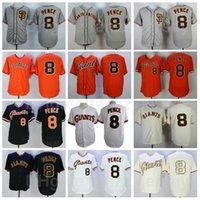 Männer Baseball Vintage 8 Hunter Pence Jersey Ruhestand Pullover Cool Base Team Schwarz Orange Weiß Grau Beige Farbe Flexbase Alle genähten Retro Cooperstown