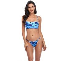 Women's Swimwear Sexy Low Waist Brazilian Bikini Set 2021 Woman Push Up Swimsuit Monokini Split Summer Beach Party Swim Biquini