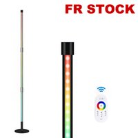 "LED Corner Floor Lamp, Novely Lighting RGB Color Change, Dimbare Woonkamer Slaapkamer, 20W 56 ""Metal Controller Vloerlamp Indoor voor Gaming Modern"