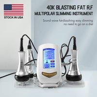 Оптовая машина для похудения 40k взрывные РЧ многопольрующие тур жир уменьшить красоту Оборудование 3 в 1 Ультразвуковая кавитация горящий массажер