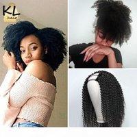 KL 10A غريب مجعد U جزء شعر مستعار 2 * 4 الجزء الفضاء الإنسان الشعر الباروكات البرازيلي ريمي الإنسان الشعر البشري 150 الكثافة كامل آلة الباروكات للنساء