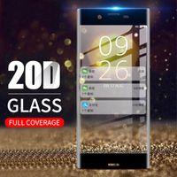 Copa completa de vidrio templado para Sony 10 más xz5 xz4 xz3 xz2 xz1 xa premium compacto protector de pantalla protector de células protectoras Prettec Protec