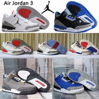 2021 Hombres Air Jordan 3 Jumpman Shoes de baloncesto Georgetown 3S Rust Pink Láser Orange Orange Rusty Knicks Entrenadores para Fragment Hombres Rivals Retro Denim Sports Sneaker I7YO #