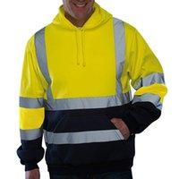 Hoodies masculino reflexivo sportswear jaqueta masculina trabalho alta visibilidade pulôver manga comprida tops casaco roupas rubos jaquetas