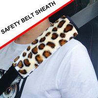 Safety Belts & Accessories Cool Car Seat Belt Cover Personalized Leopard Print Soft Thick Plush Comfortable Decor Sheath Shoulder Strap Pad