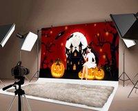 Украшение партии Хэллоуин фон тыква фонарь ведьма напечатана тонкие фоны Po детей детский фестиваль декор фона