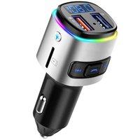 BC41 자동차 MP3 플레이어 FM 송신기 U 디스크 / TF 카드 음악 블루투스 수신기 핸즈프리 USB QC3.0 충전기