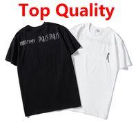 Verão Mens Stylist T Shirt Casual Homem Mulher Loose T-shirt com letras Bordado mangas curtas topo Venda de luxo homens camiseta Tamanho S-2XL