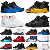 الأزياء الظلام كونكورد 12 12 ثانية jumpman الرجال أحذية كرة السلة عكس الانفلونزا لعبة جامعة الذهب الصالة الرياضية الأحمر رجل المدربين الرياضة أحذية رياضية الحجم 7-13