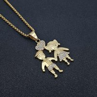 Hip Hop Iced Out Money Dollar Signs Pendant Necklaces Male Gold Color Stainless Steel Chains For Men Jewelry Gift Drop
