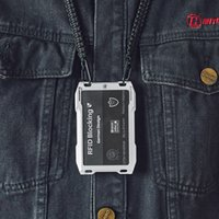 2021 NEW DIENQI RFID Metal Cardholder Wallet Men Business Badge Credit Card Holder Small Aviator Minimalist Wallet for Card Man