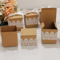 100 stücke Spitze Bogen Süßigkeiten Blume Kraftpapier Baby Dusche Dragee Taufe Geburtstag Hochzeit Geschenk Mini Einzelne Kuchen Box Verpackung