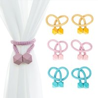Magnetische Vorhang Tieback Polen Schnalle Clip Polyester dekorative Vorhänge Tiebacks Wohnaccessoires GWB9554