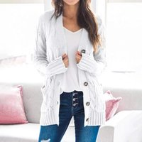 2021 Women's Sweaters Casual Knit Contrast Color Long Sleeve Autumn Fashion Wear Classic ladies sweater cardigan neck cotton designer luxury
