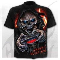 Men's T-Shirts Skull Hip Hop 3D Shirts Horror O-Neck T-shirt Summer Fashion Tops Boys Clothing Large Size Street