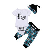 Clothing Sets Baby & Children's Infant Born Girl Boy Shirt Romper Tops+Pants Trousers+Hat Outfit Clothes