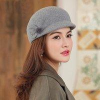 Skąpny brzeg kapelusze beckyruiwu jesień i zima mama fedora kobieta party moda ośmiokątny kapelusz pani 100% australia wełny filc