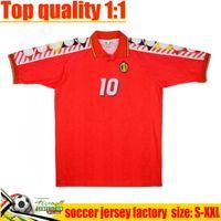 1994 بلجيكا الرجعية لكرة القدم الفانيلة Vicenza-sif Xenatinski Lukaku أعلى جودة 94 96 G.de Bilde Football Shirt Hazard Batshuayi Camiseta Futbol Kompany Dembele Maillot