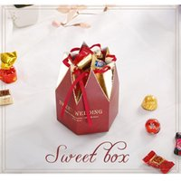 Gift Wrap 50 Pcs Korean Style Favors Box Gifts Candy Boxes With Ribbon Baby Shower Wedding Event Party Supplies Creative