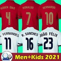 2021 Portugal futbol forması 2022 Portekiz futbol forması RONALDO SANCHES BERNARDO BRUNO FERNANDES RÚBEN GÜNLERİ CANCELO DIOGO DIOGO JOTA