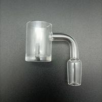 Quartz Banger Nail Flat Top 90 degrees 4mm Thick bottom Smoking OD25mm Bangers 14mm Male Joint Bowl For Glass Bong