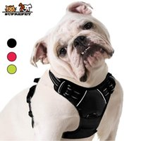 SUPREPET Reflective No Pull Puppy Vest Nylon Adjustable French Bulldog Harness for Large Medium Dog Pet Supplies