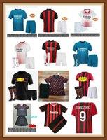 21 22 مراوح لاعب نسخة AC Soccer Milan Balr. الفانيلة 2021 Ibrahimovic Tonali Mandzukic Kessie Kid Kid Kits قمصان تدريب كرة القدم