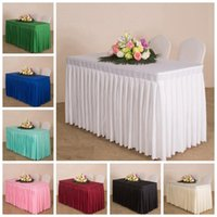 Table Cloth 20 Colours Wedding Cover Ruffled Skirt Linen Box Pleated For El Banquet Party Decoration