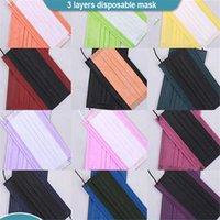 15 cores de máscara descartável 3 camadas não-tecidas desenhador respirável face máscaras moda anti-poeira