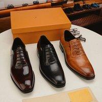 2021豪華な男の靴パティネット革の僧侶ストラップオックスフォードの靴のための男性の結婚式のビジネスフォーマルスーツメンズドレス