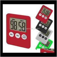 Таймеры светодиодный цифровой кухонный таймер 7 Цвета Подсчет Counter Counterning Часы Магнит Аварийный сигнал Электронные инструменты приготовления OOA6532 X4Z5Q 4F1UG