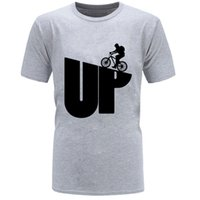 CCCCSPORTUP Dağ Döngüsü Biker Mens T Gömlek Kalmak Vahşi Moda Baba Tshirt Ekip Boyun Casual Kısa Kollu Pamuk Kumaş Erkekler T Gömlek