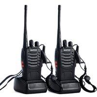 2pcs / lot Baofeng BF-888S Walkie Talkie Two Way Radio BAOFENG 888S UHF 400-470MHZ 16CH Ricetrasmettitore portatile con X6HA