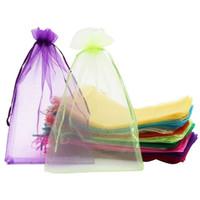 100pcs Bolsas grandes de organza, bolsas de regalo de 20x30 cm Malla de regalo con cordón para la joyería para la boda de Navidad