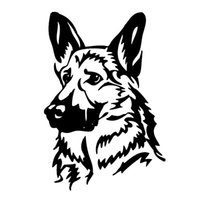 16*10.9cm German Shepherd Car Stickers Funny Window Bumper Novelty JDM Drift car stickers and decals funny
