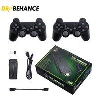 비디오 게임 콘솔 지원 4K TV 출력 게임 플레이어 10000 레트로 게임 상자 선물 무선 컨트롤러 스틱 콘솔 PS1 / GB / MD