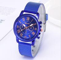 Случайный стиль Shshd бренд Geneva CWP мужские часы двойной слой кварцевые часы мягкие пластиковые ремень сетки простые наручные часы