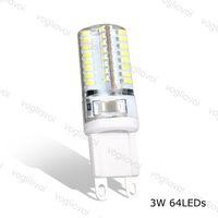 Lampadine a LED G9 64LED AC220V 6500K 3500K Corn SMD3014 360 Lampade per il corpo in silicone per lampadario in cristallo Spotlight del pendente DHL