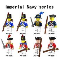 Одиночная навязная фигура Голова Лояльная Императорская Гвардия Солдат Лицо Военные Сват Строительные Блоки Кирпич Пиратские игрушки для детей
