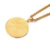 Kreisförmige Goldfamilienbaum des Lebens Anhänger Halskette in Edelstahl-Halsketten