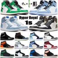 2020 أحذية الرجال لكرة السلة وصول جديدة 1 العليا OG منتصف الأزرق الملكي 1S أعلى 3 أسود لامع الذهب UNC رجل إمرأة حذاء رياضة مدرب