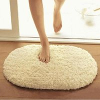 Carpets Bedroom Oval Artificial Lamb Cashmere Rugs Living Room Bathroom Kitchen Mat Cushion Non-slip Foot Pad